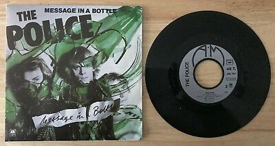 RARE FRENCH SP THE POLICE MESSAGE IN THE BOTTLE