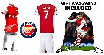 - Fan Kitbag Alexis #7 Arsenal Youth Home/Away Soccer Jersey & Shorts Kids...