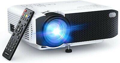 "Portable Mini Projector 5500 Lumens 1080P Max 180"" Display LCDHome Cinema HDMI"