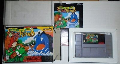 Super Mario World 2 Yoshi's Island Super Nintendo 1995 w/ Box and Manual