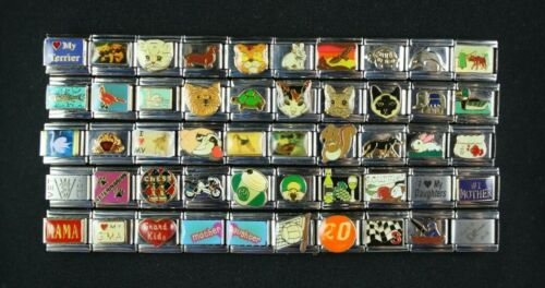 Italian Charms 50 assorted Stainless Steel Wholesale Lot 9mm  (C50-602) Animals