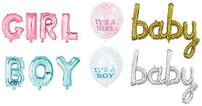 Baby Boy Ballon (Girl Luftballons rosa ca 100cm Folienballon Geburt Baby shower Boy Baby Ballon)