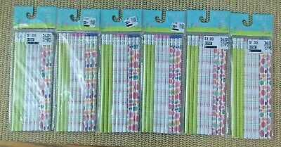 Easter pencils 60 pc Happy Easter , Easter eggs, 6 packages of 10 eachNWT(Z016)
