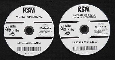 Genuine Kubota La555 La805 La1055 Front Loader Service Repair Manual Set On Cd