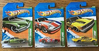 HOT WHEELS Treasure Hunt's(Lot of 3) 2011 Tucker, Datsun 240Z & '80 El Camino