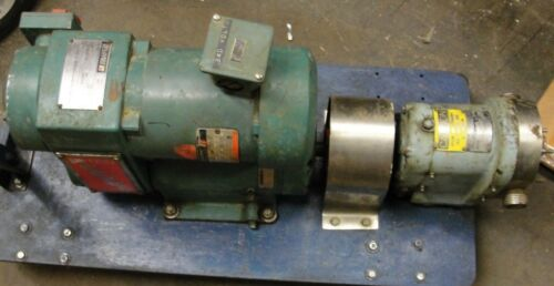 RELIANCE ELECTRIC REEVES X-V 1/4HP with Waukesha Sanitary pump dual motor system
