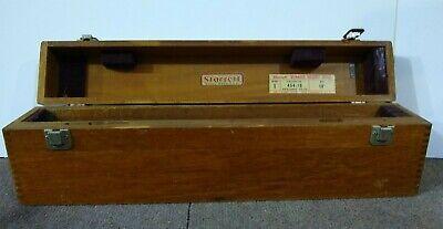 Starrett 454-18 Mahogany Box For Vernier Height Gage
