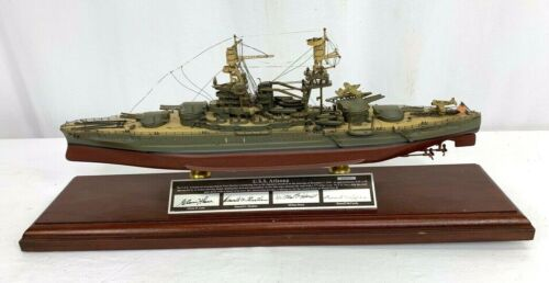 Franklin Mint USS Arizona Limited Edition Ship Display - Signed By 4 Survivors