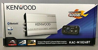 Kenwood KAC-M1824BT 400 Watt Bluetooth 4Channel Class D Marine/ATV Amplifier NEW