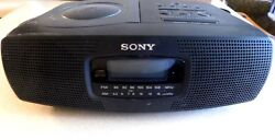 Sony ICF-CD820 AM/FM Stereo Dual Alarm Clock Radio with CD Player Tested Works