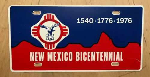 1976  NEW MEXICO OFFICIAL  BICENTENNIAL FRONT BOOSTER LICENSE PLATE NM 76