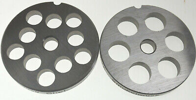 12 Two Sizes 12 58 Stainless Steel Meat Grinder Plates For Lem