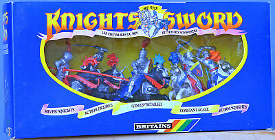 Britains Deetail # 7778 - 5 Silver Knights - MIB - hybrid set with 1 swap-type