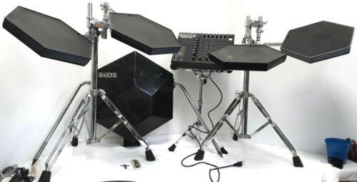 SIMMONS SDS9 Vintage Electronic Drum Kit *4X Toms*Kick Pad w/Pedal*Module*Stands