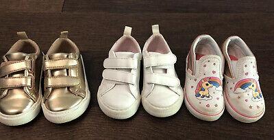 3 Pairs Toddler Girl Shoe Lot Size 5.5-6 Gap~ Vans