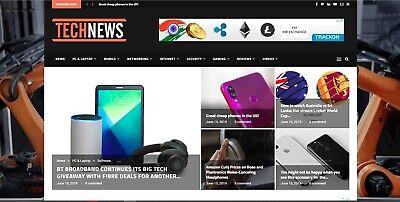 Automated Wordpress Tech News Website - Turnkey Profitable Site