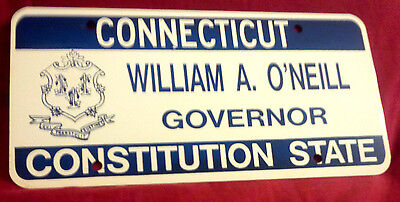 CONNECTICUT GOVERNOR WILLIAM A. O'NEILL LICENSE PLATE