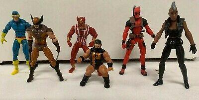 "Marvel Universe 3.75"" X-Men 6 Figure Lot Deadpool Wolverine Cyclops Loose"