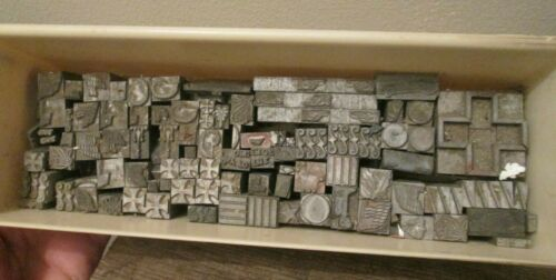 Lot Vintage Metal Letterpress Printing DingBats & Border Assorted Designs