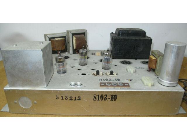 MAGNAVOX 8103-10 VACUUM TUBE STEREO POWER AMPLIFIER - VERY WELL BUILT - REPAIR