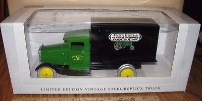 John Deere Vintage STEEL Delivery Truck GP Tractor Spec Cast Toy Ltd Ed LARGE!