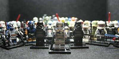 Lego Star Wars And Custom Minifigures Blind Bag lot w/Chrome Stormtrooper Prize!