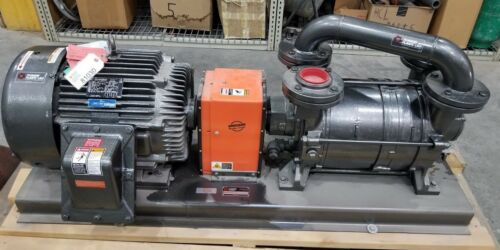 Travaini TRHC80-600C/RX Two stage Liquid Ring Vacuum Pump, 1750 RPM, 40 HP, EPFC