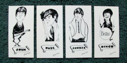 Vintage 1964 Original Beatles Art Cards Matthews Rotary Press Inc Lot of 4 NOS