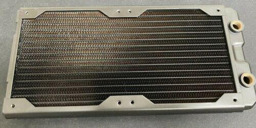 Black Ice Nemesis 280GTS® Ultra Stealth U-Flow Low Profile Radiator - Black Carb
