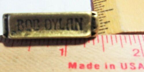 vintage Bob Dylan harmonica pin collectible old rock band folk music memorabilia