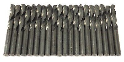 "1/4"" Screw Machine Drill Bits High Speed Steel 20 Pack"