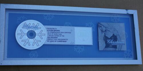 Rare Christina Aguilera My Kind of Christmas Album Platinum Record RIAA Award