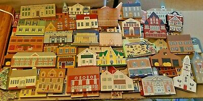 Huge Lot of 62 Assorted Vintage Cat's Meow Buildings And Specialty Pieces