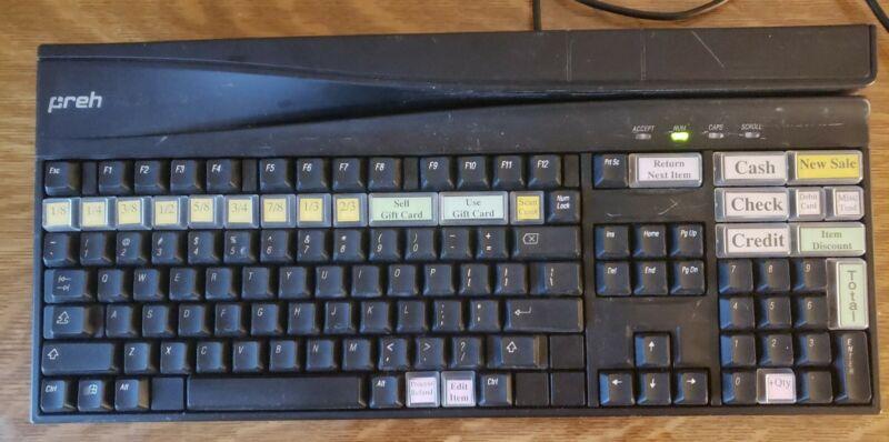 PrehKeyTec MCI 3100 POS USB Credit Card Reader Keyboard Tested Working