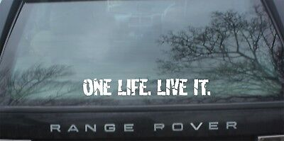 ONE LIFE LIVE IT, STICKERS,  LAND ROVER, Camel Trophy, 4x4 Off Road, Funny
