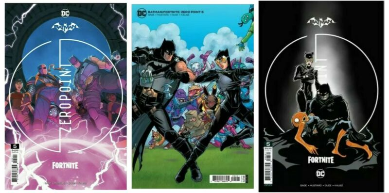Batman Fortnite Zero Point #5 A B C Set Options w/ redeemable code presale 6/15