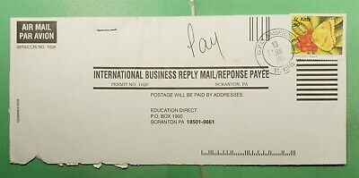 DR WHO 2003 ST KITTS BASSETERRE BUSINESS REPLY MAIL TO USA BUTTERFLY g20173
