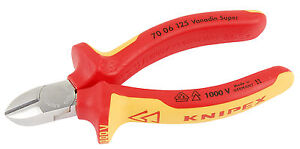 Knipex-70-06-125-VDE-Insulated-Side-Cutters-Chrome-Plated-125mm-NH