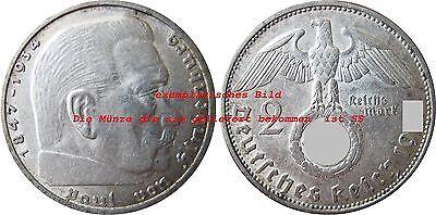 J366 2 Reichsmark Hindenburg m.H.   1937 A