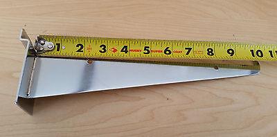 Lot Of 12 - New 10 Inch Chrome Slatwall Knife Shelf Brackets