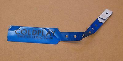 COLDPLAY Twisted Logic Tour 2005 UK blue wristband