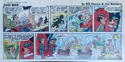 Yogi Bear by Eisenberg - Hanna-Barbera - color Sunday comic page - May 31, 1970