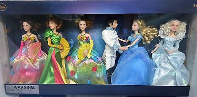 Disney CINDERELLA 2015 Live Action Film Collection 6 Dolls as seen on Film *NIB
