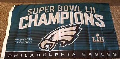 Philadelphia Eagles Super Bowl Champ Champions 3 x 5 FLAG --  IN STOCK  --