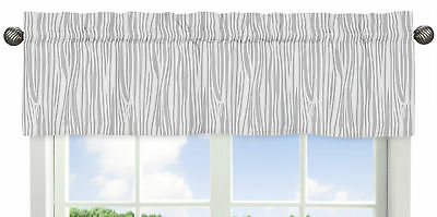 Wood Grain Print Window Valance Curtain For Sweet Jojo Coral Woodsy Girl Bedding