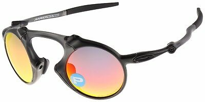 Oakley Madman Sunglasses OO6019-04 Dark Carbon | Ruby Iridium Polarized Lens