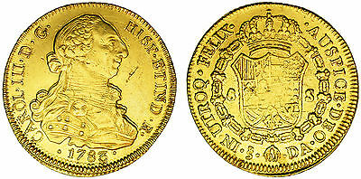 Click now to see the BUY IT NOW Price! 8 GOLD ESCUDOS/ORO. CHARLES III CARLOS III. SANTIAGO DE CHILE. 1783. VF/MBC.