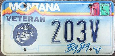 Montana Veteran State License Plate