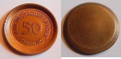 50 Pfennig 1949 F Deutschland Probe bzw. Abschlag der Wertseite vom 50Pf. prfr.