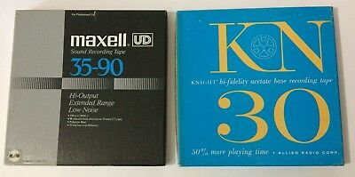 MAXELL & KNIGHT Used Vintage Reel to Reel Tapes Orchestra Recorded Music